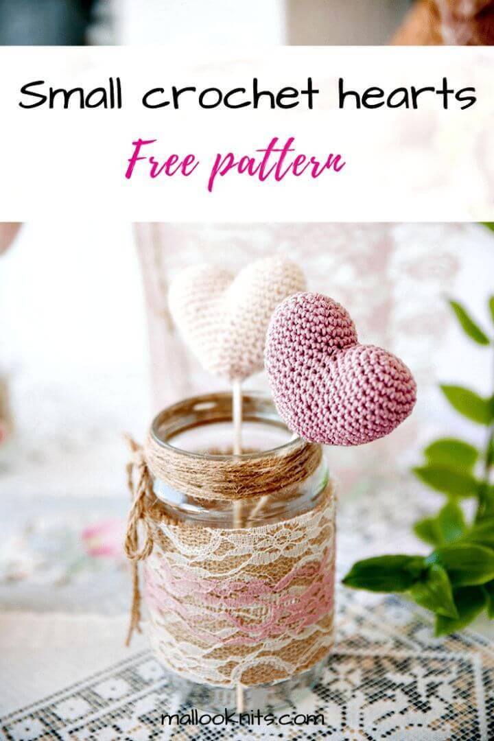 Small Crochet Hearts - Free Pattern