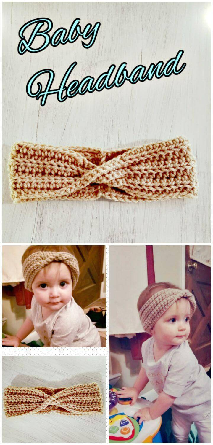 Super Cute And Easy Free Crochet Baby Headband Pattern