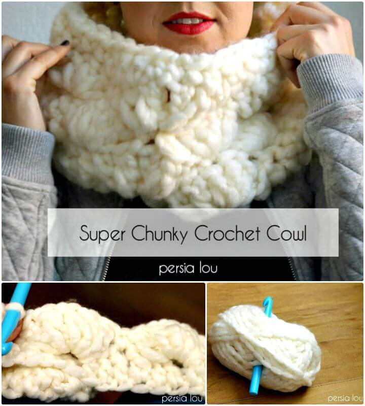 Super Duper Chunky Crochet Cowl Pattern