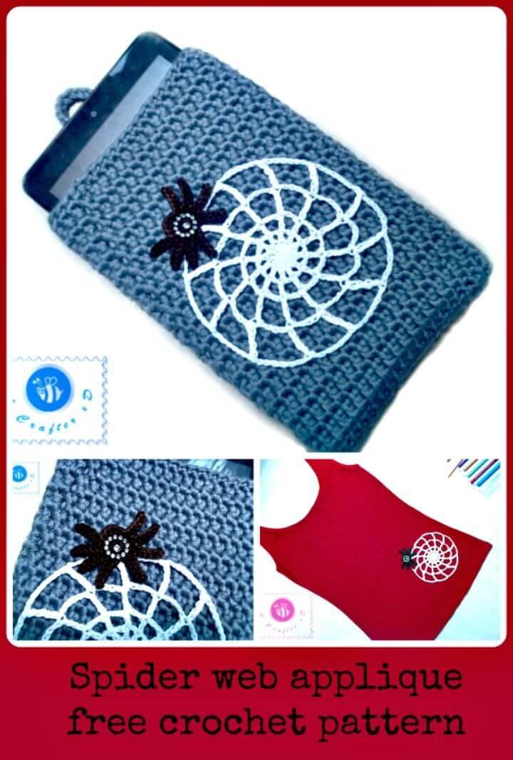 Super Free Crochet Spider Web Applique Pattern