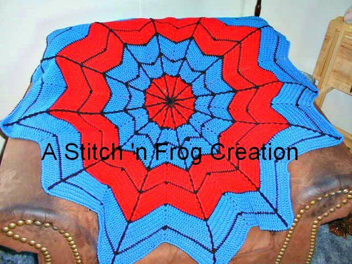 Free Crochet Superhero Dream Catcher Afghan, especially For Spiderman Fans
