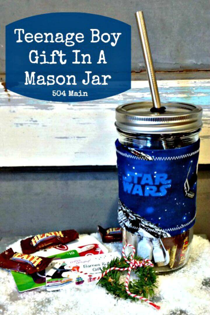 DIY Teenage Boy Gift In A Mason Jar Idea