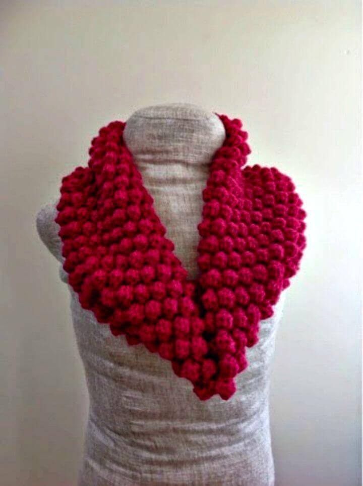 Free Crochet Raspberry Cowl Pattern