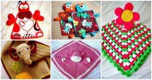 35 Free Crochet Lovey Patterns for Your Cute Baby - Crochet Lovey Blanket Patterns - DIY Crafts