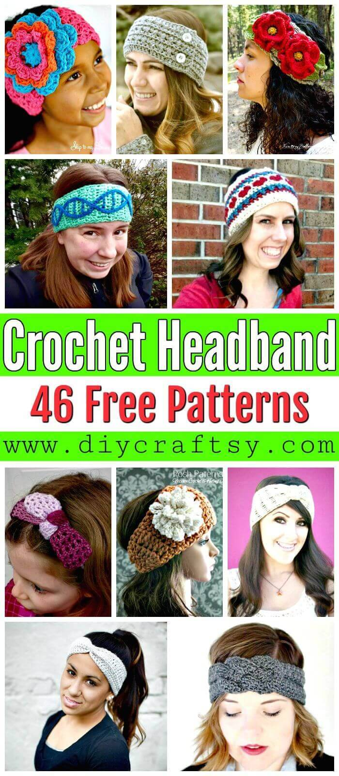 Crochet Headband Patterns - DIY Crafts - Free Crochet Patterns