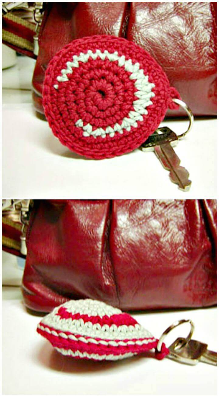 Adorable Easy Free Crochet Keychain Pattern
