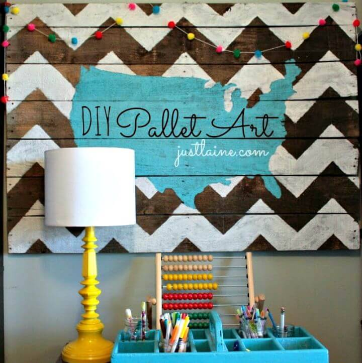 Easy and Simple DIY Pallet Art Tutorial