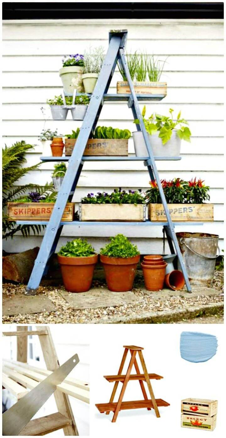 Beautiful How To DIY Ladder Garden