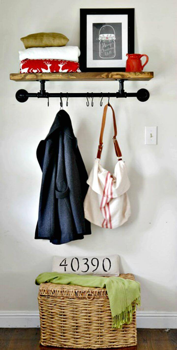 Easy to Build Industrial Coat Rack For Your Entryway Tutorial