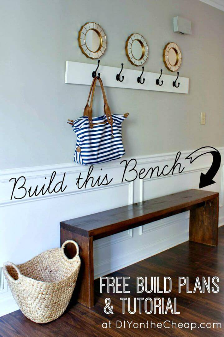 How to Build Your Own Entryway Bench Plans & Tutorial