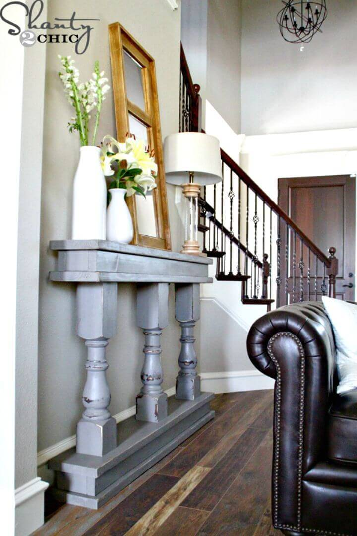 How to Build Your Own Entryway Console Table Tutorial