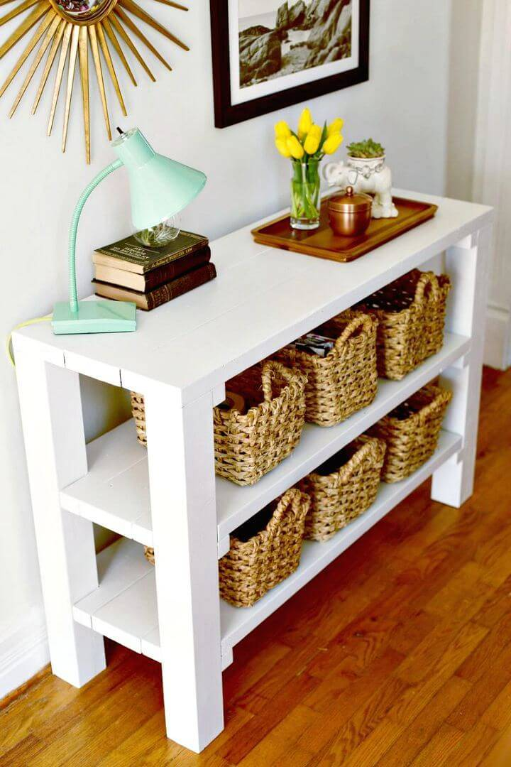 How to Build Your Own Entryway Key Throw Table Tutorial