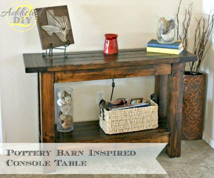 How to Build Your Own Pottery Barn Inspired Entryway Console Table Tutorial