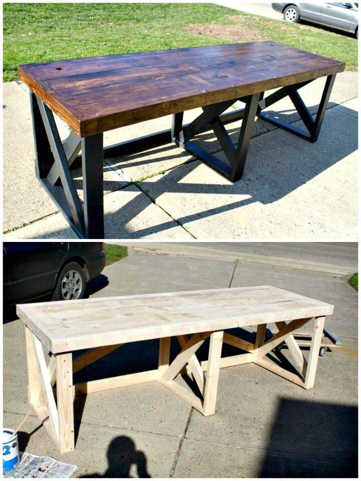 Easy How To Build A Trestle Desk From Scrap Lumber Tutorial