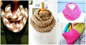 Crochet Infinity Scarf Patterns - 74 Free Crochet Scarf Patterns - DIY Crafts