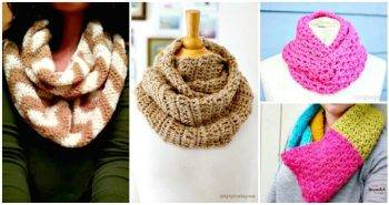 Crochet Infinity Scarf Patterns - 74 Free Crochet Scarf Patterns - DIY Crafts