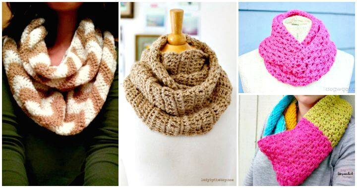 Crochet Infinity Scarf - 74 Free Crochet Scarf Patterns - DIY & Crafts