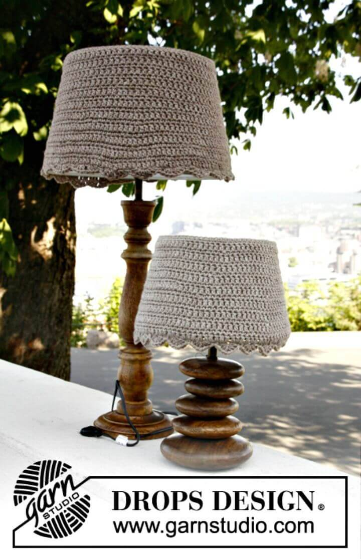 Easy Crochet Lamp Shade Covers - Free Pattern