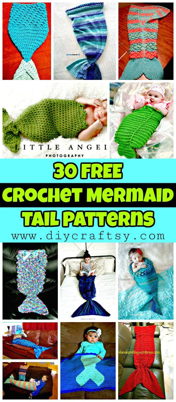 Crochet Mermaid Tail Patterns - 30 Free Crochet Patterns - DIY Crafts