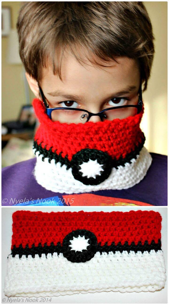 Crochet Pokemon Kids Cowl - Free Pattern