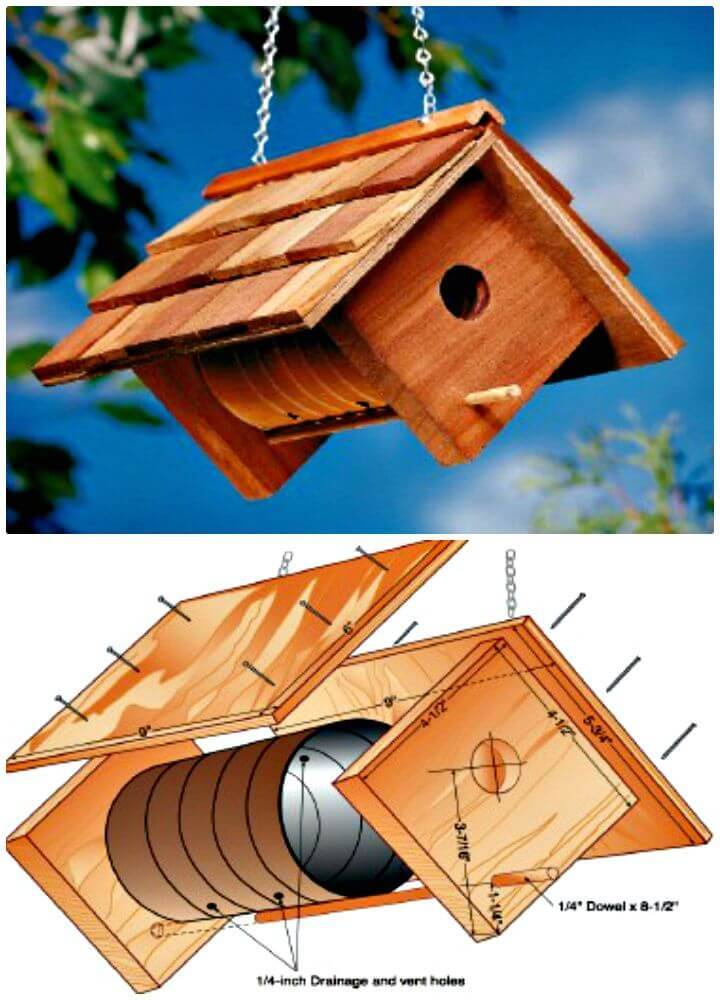 Easy and Cute How To Build a Birdhouse Tutorial