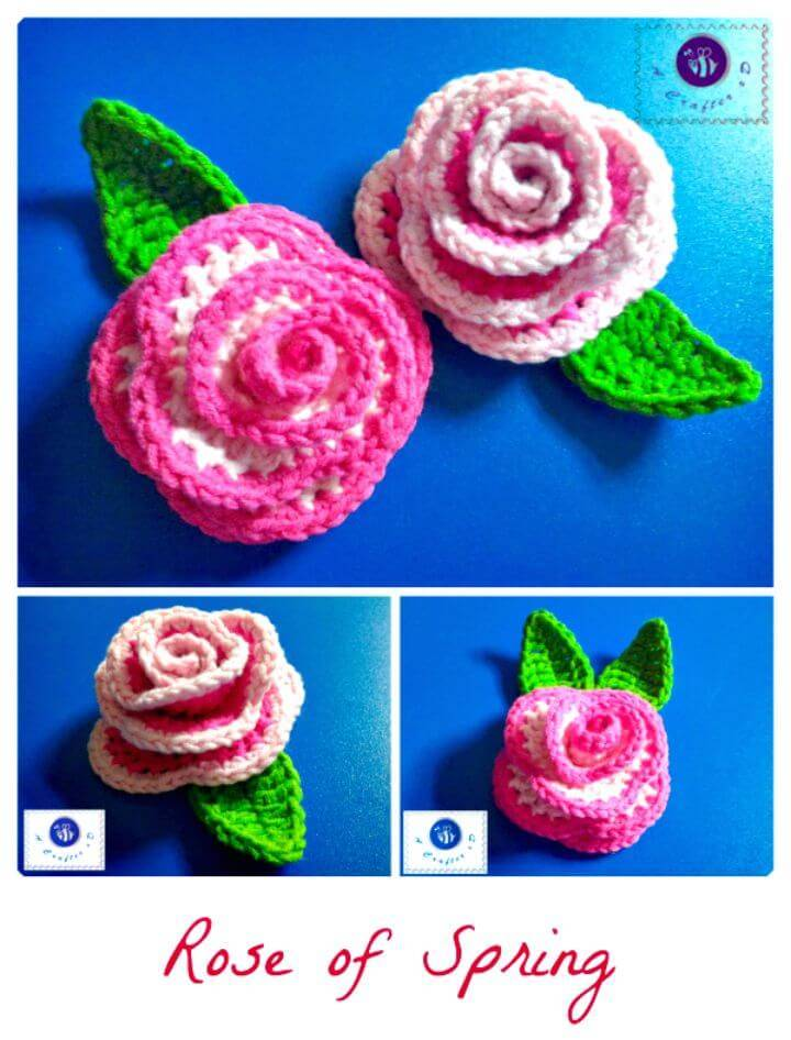 Cute How To Free Crochet Rose Of Spring Pattern
