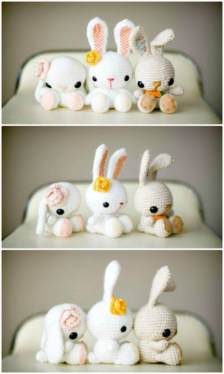 Cute How To Free Crochet Spring Bunnies Pattern