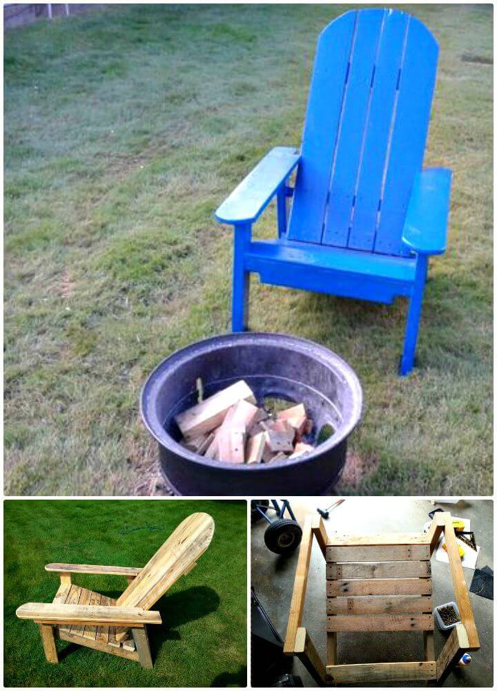 Easy DIY Adirondack Style Chair Out of Pallet Tutorial