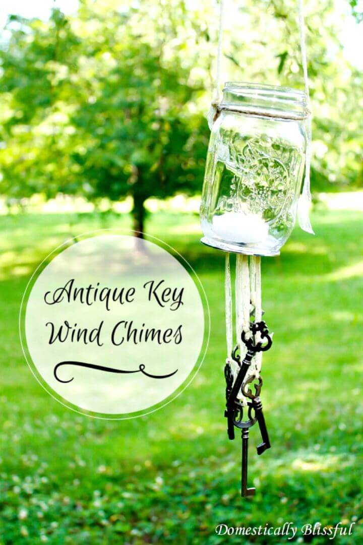 How To Make An Antique Key Wind Chimes Tutorial