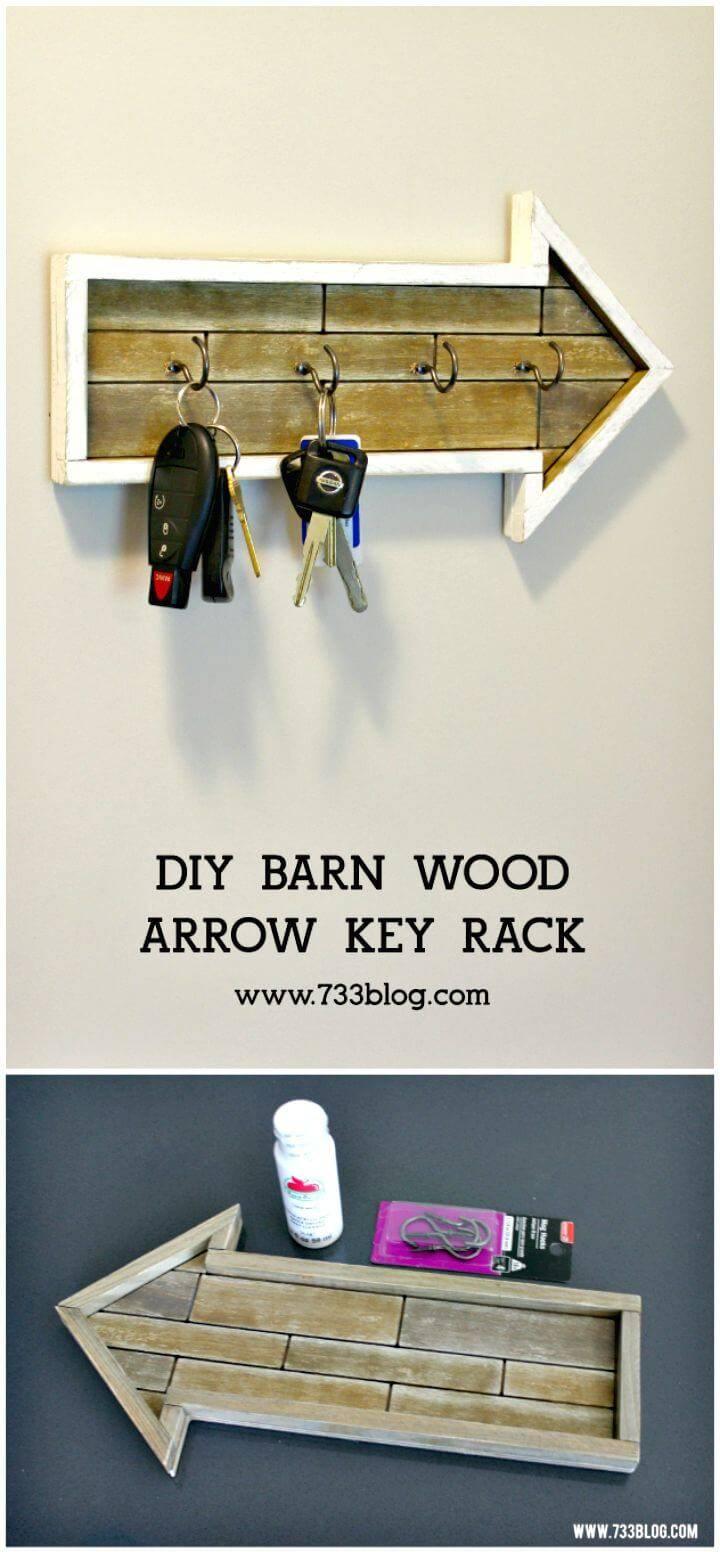 How To Make A Barn Wood Arrow Key Rack Tutorial