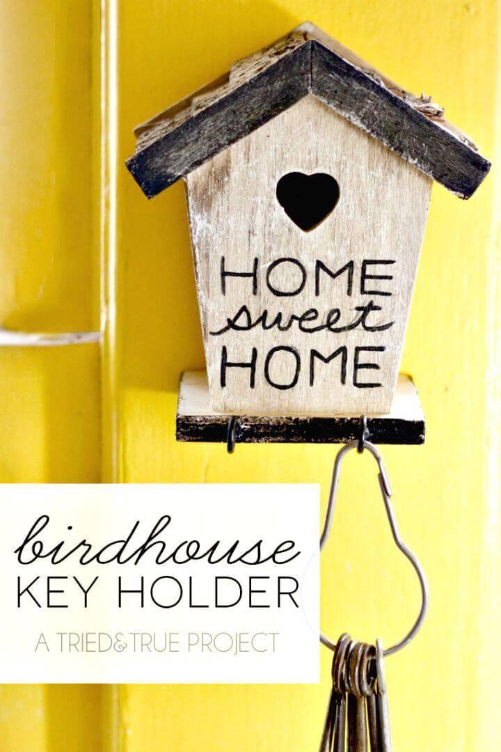 Easy DIY Birdhouse Key Holder Tutorial