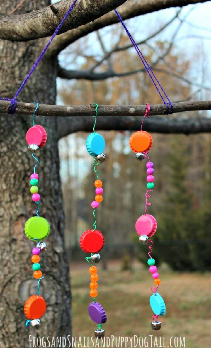 Easy DIY Bottle Cap Wind Chime Tutorial