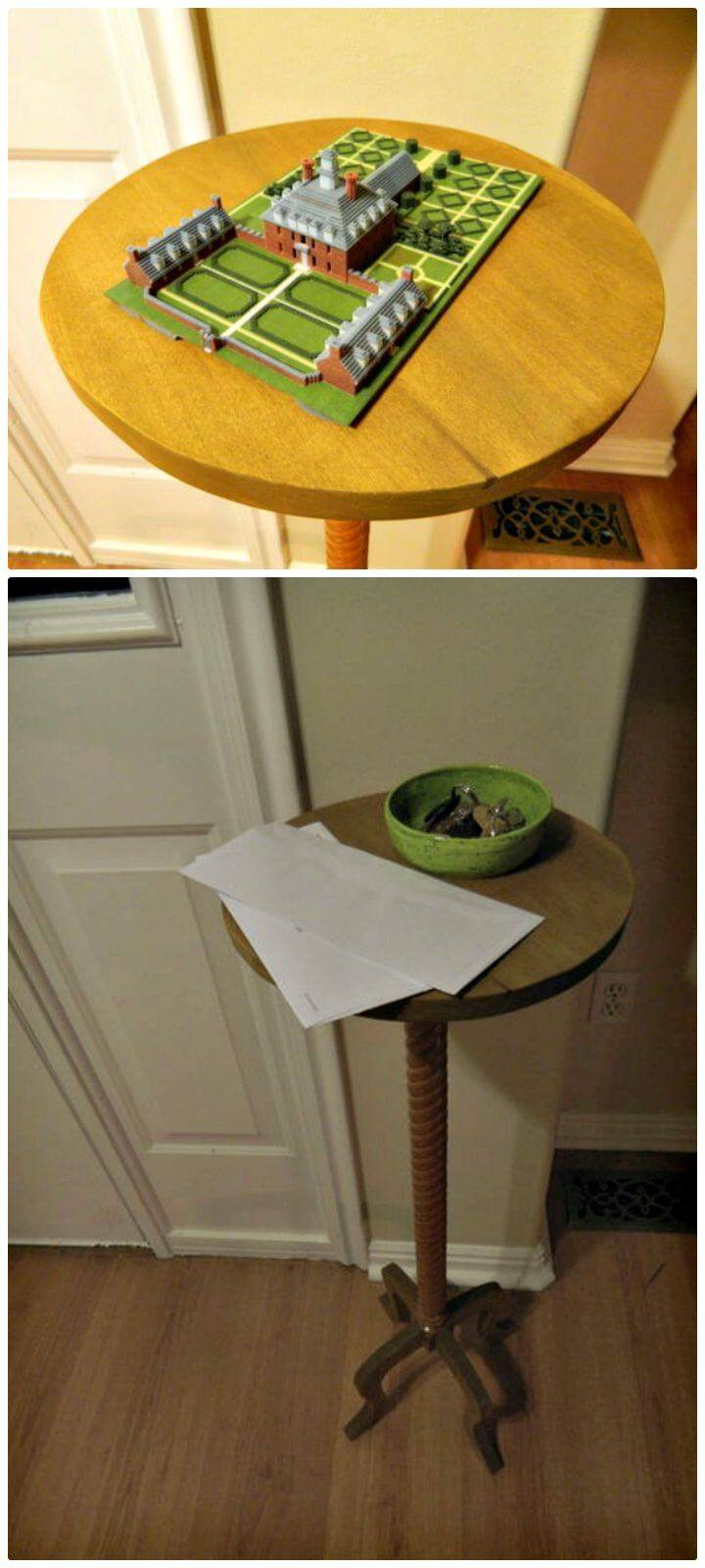 How to DIY Candle Stand Style Entryway Table Tutorial