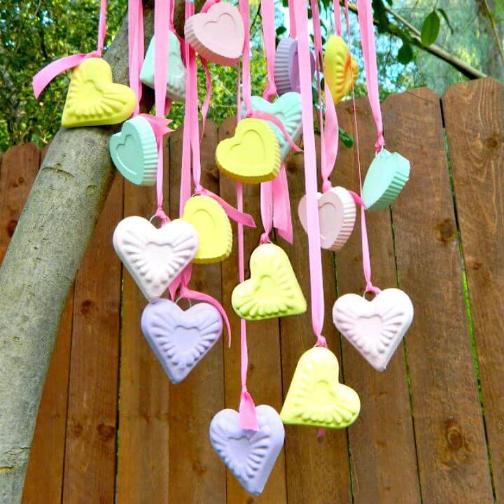 DIY Candy Hearts Wind Chime Tutorial