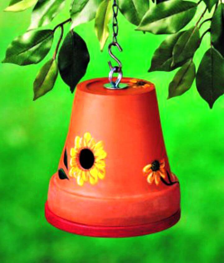 Easy DIY Clay Pot Birdhouse Tutorial