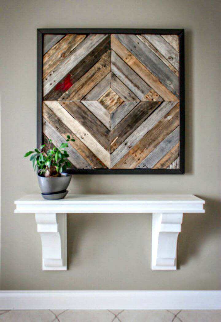 Easy DIY Pallet Artwork Entryway Tutorial