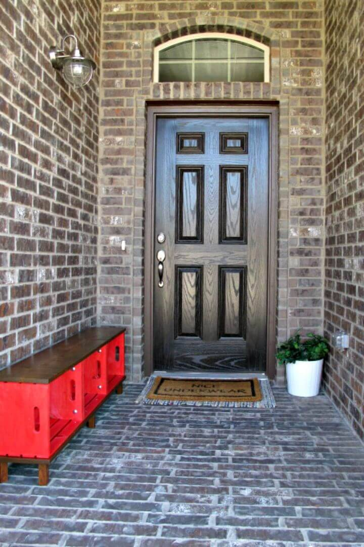 DIY Entryway Decoration Using Crates Tutorial