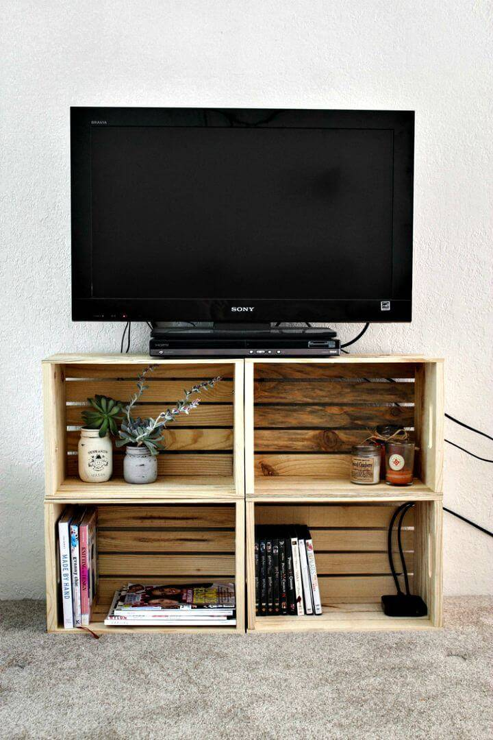 Super Easy DIY Crate TV Stand Tutorial