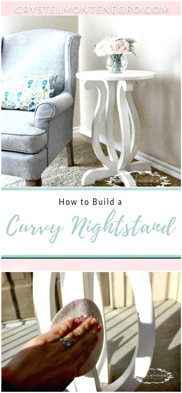 Easy DIY Curvy Nightstand Tutorial