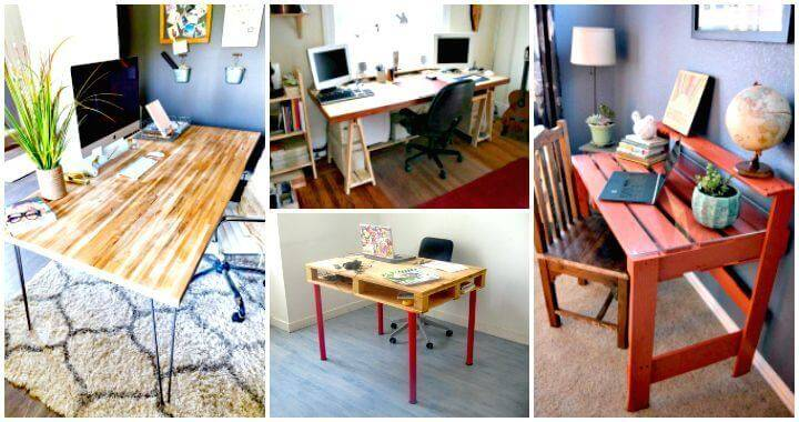 DIY Desk Plans - Top 44 DIY Desk Ideas You can Make Easily - DIY Crafts