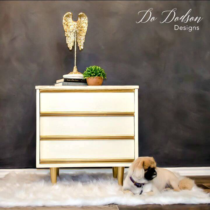 DIY Dixie Nightstand Painted Furniture Makeover Tutorial