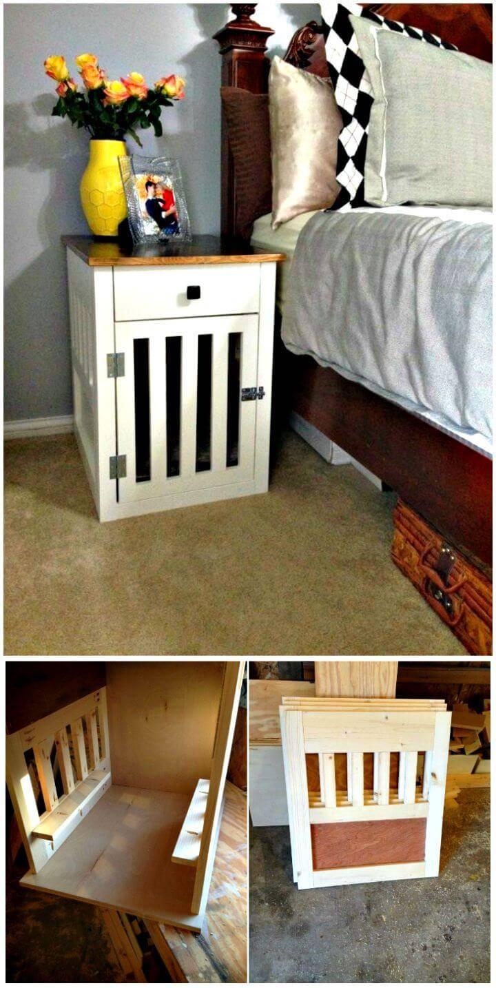 DIY Dog Crate Nightstands Tutorial