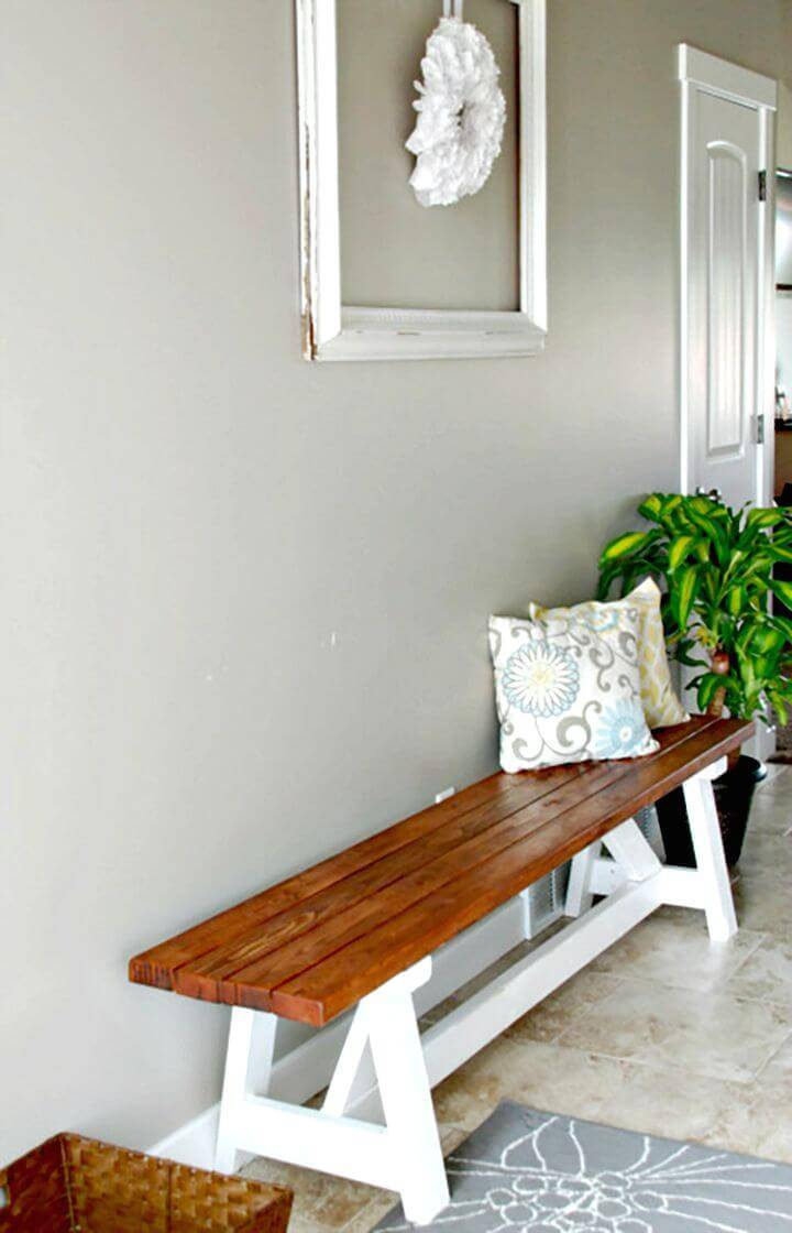 DIY Entryway Farmhouse Bench Tutorial