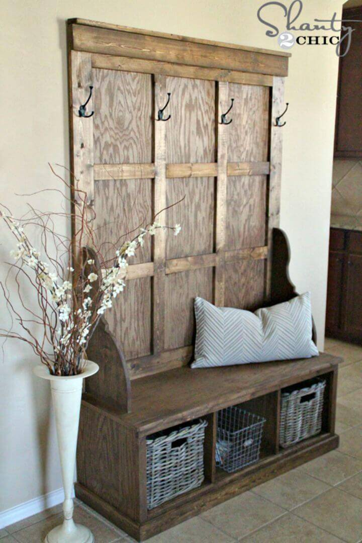 How to Build Entryway Tree Bench Tutorial