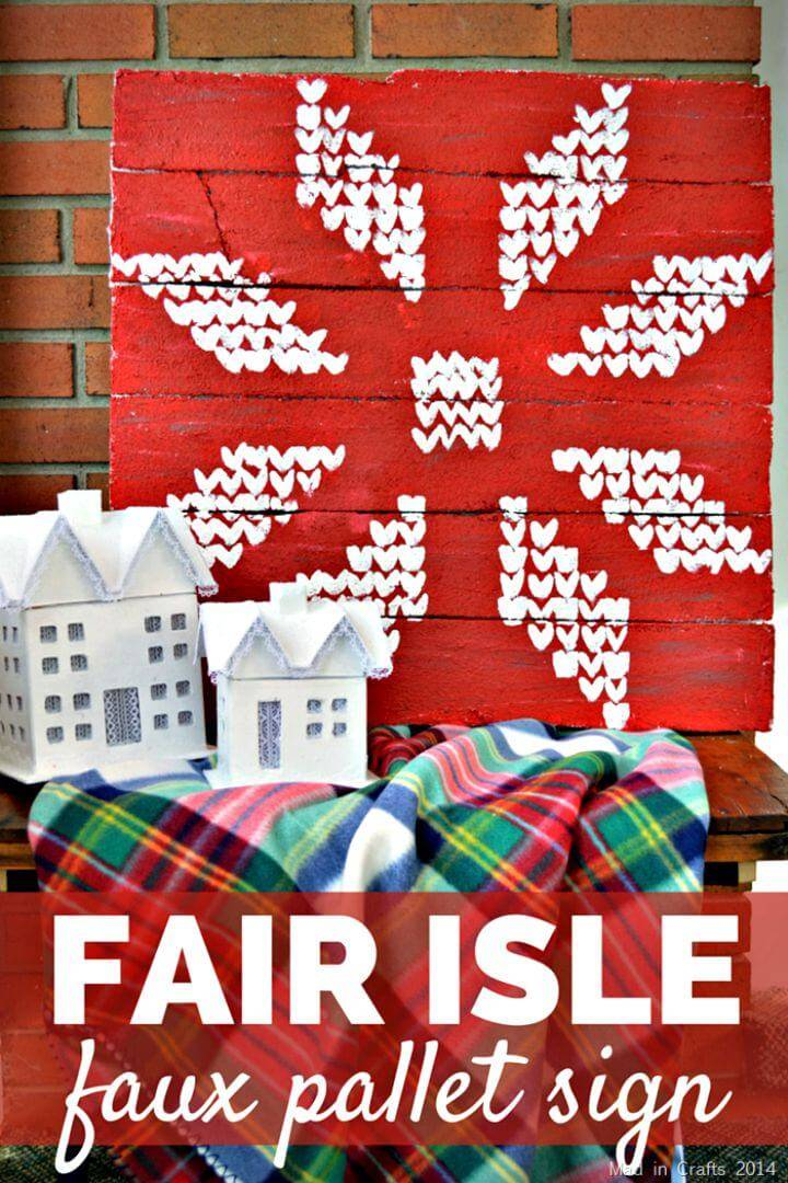 DIY Fair Isle Faux Pallet Sign Tutorial