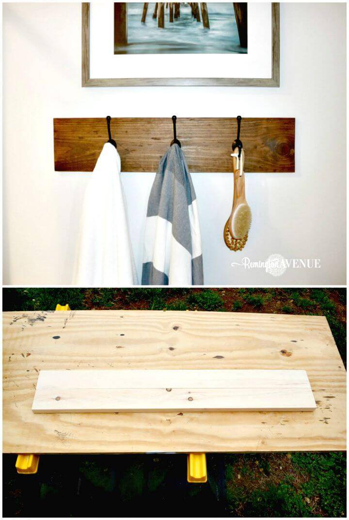 How To Build Farmhouse Style Towel Rack Tutorial