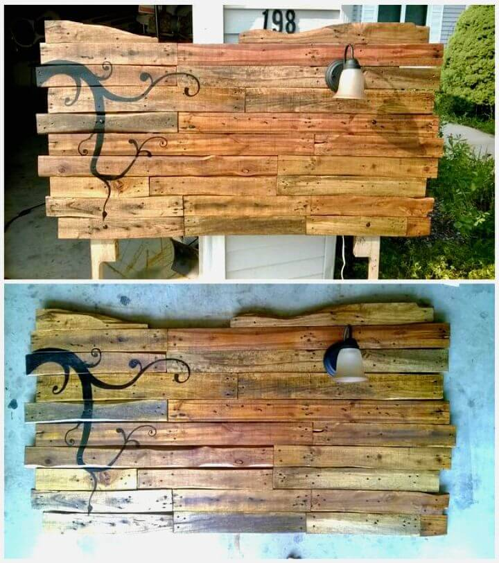Easy DIY Headboard From Wooden Pallets Tutorial