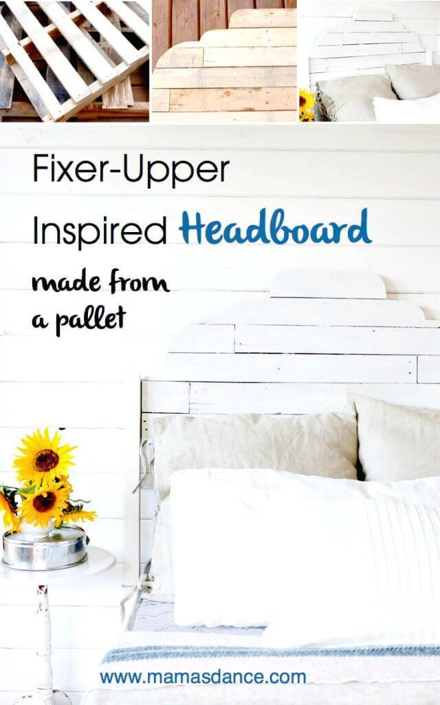 Easy DIY Joanna Gaines Inspired Pallet Headboard