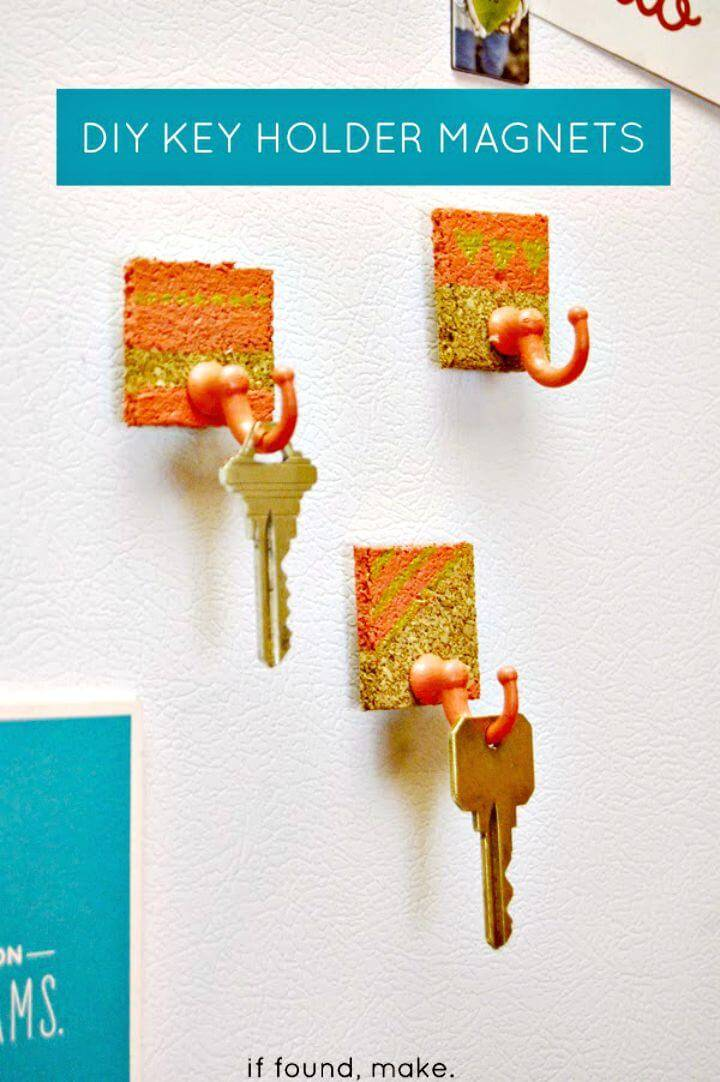 DIY Key Holder Magnets Tutorial