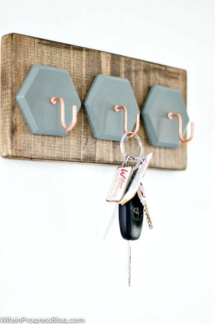 Easy DIY Key Holder Step By Step Tutorial